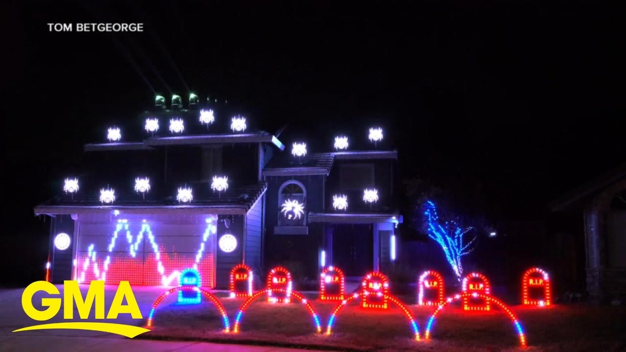 Tom BetGeorge shows off his incredible Halloween House