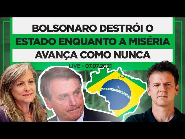 BOLSONARO destrói o Estado enquanto a miséria avança como nunca   Live com Maria Lucia Fattorelli