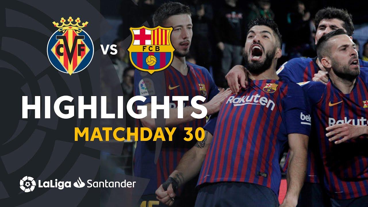 Download Highlights Villarreal CF vs FC Barcelona (4-4)