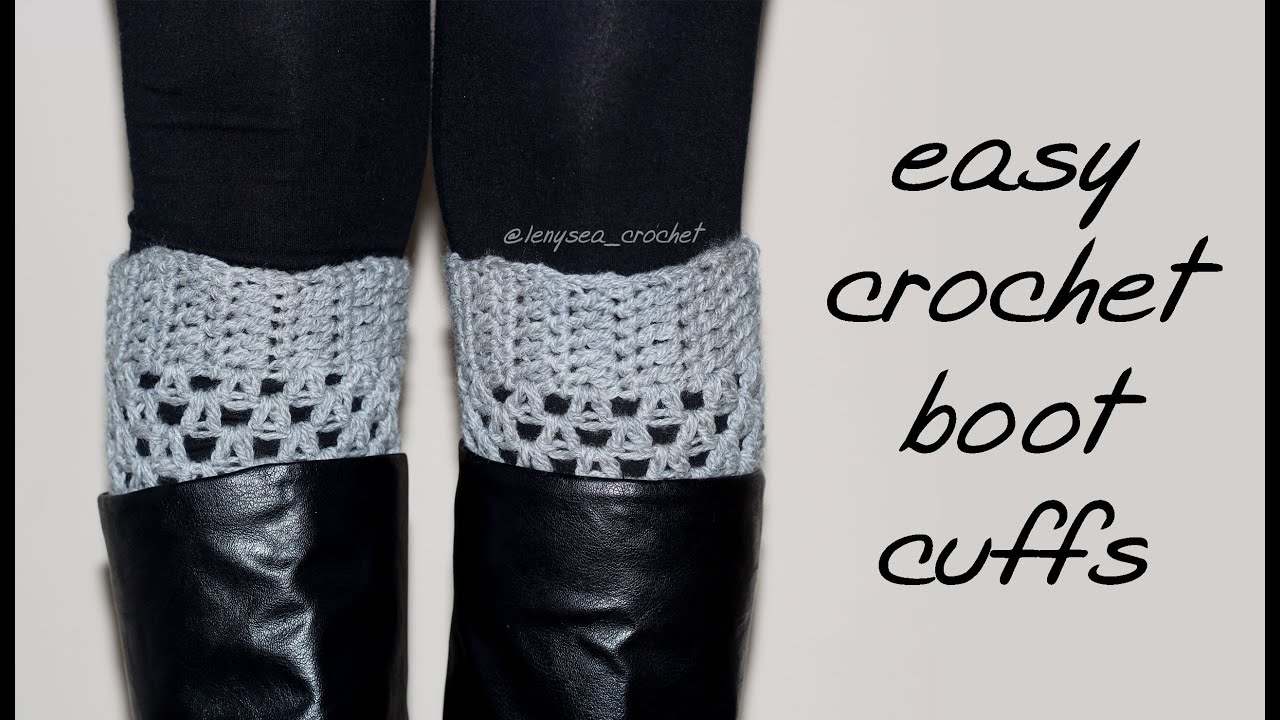 How to crochet for beginners boot cuffs youtube bankloansurffo Images