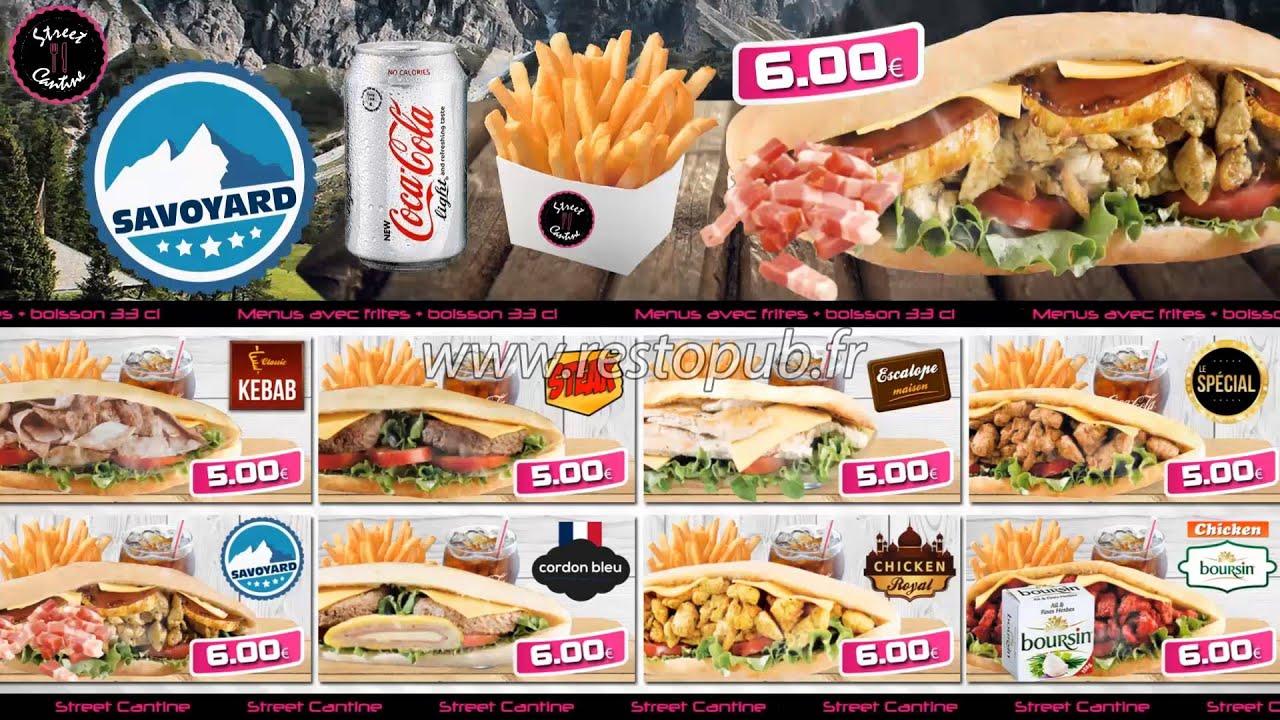 Menu board dynamique chicken fast food for X cuisine miri menu