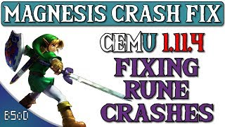 Cemu 1.11.4   Magnesis Crash Fix   Zelda BOTW