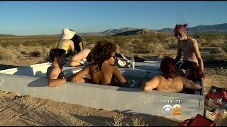 "Group Finds Unity In Trek To Find Hidden ""Social Pool"" In Desert"
