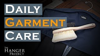 Daily Garment Care: How to Use a Garment Brush | Double-Sided Brush