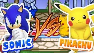 SONIC VS PIKACHU - Super Smash Flash 2 | JOGOS ONLINE