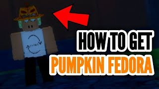HOW TO GET THE PUMPKIN FEDORA! | Hallow's Eve: Sinister Swamp | ROBLOX