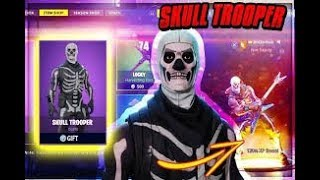 PRESENTATION OF MY SKINS FORTNITE - SKULL TROOPER ,CASSE NOISETTE.... VALUE $250