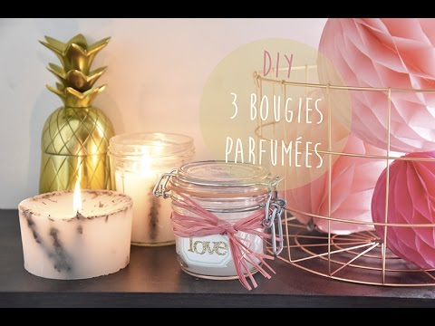 diy d co 3 bougies parfum es youtube. Black Bedroom Furniture Sets. Home Design Ideas