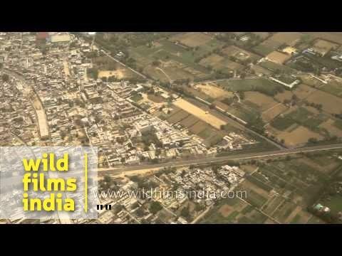 Aerial view of capital city of India: Delhi