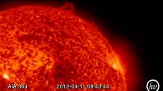 April 13 2012 Class B2 - B5 Impact Magnetic Storm [HD]