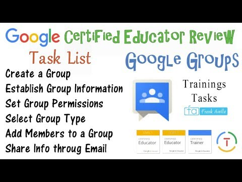 Google Groups Tutorial