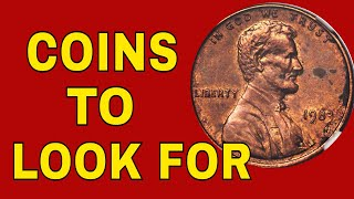 Top 5 coins worth money in your change! Pennies worth money!