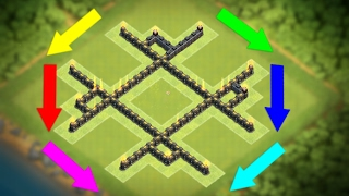 """New """"UNBELIEVABLE"""" Town Hall 5 Trophy/War Base (COC TH5) BEST!! Defense Layout 2017 