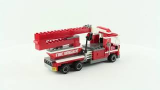 Dromader Fire Brigade Truck   Brick Builder Toys   Lego Speed Build