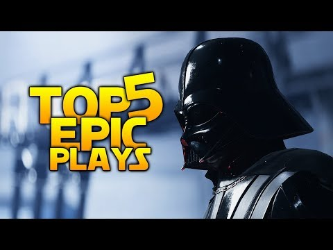 VADER\'S NEW WEAPON - THE SENTRY:  Battlefront 2 Top 5 EPIC Plays
