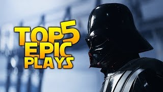 VADER'S NEW WEAPON - THE SENTRY:  Battlefront 2 Top 5 EPIC Plays