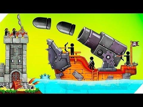 50 ДНЕЙ С ПИРАТАМИ - Катапульта: Атака пиратов The Catapult:Clash With Pirates Игры для андроид