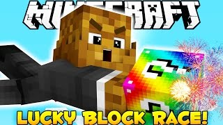 Minecraft SKY Rainbow Lucky Blocks Race Mod (Modded Minigame) w/ BajanCanadian