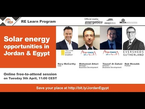 Recordings and Presentations: Solar energy opportunities in Jordan