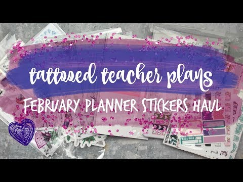 february planner supplies haul! ft. scribble prints co, gp sticker studio, & more!
