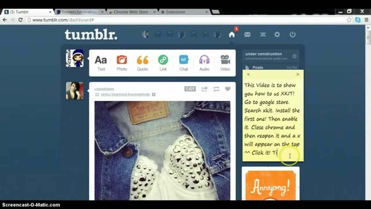 How to use Xkit for tumblr!