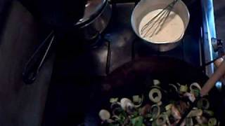 The Once A Week Kitchen - How To Make Leeks & Mushrooms In Cheese Sauce Part One