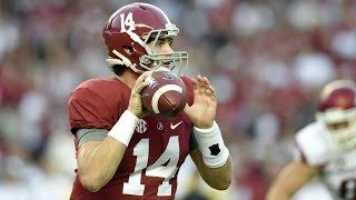 Alabama's Jake Coker Throws Long TD Against Arkansas | CampusInsiders