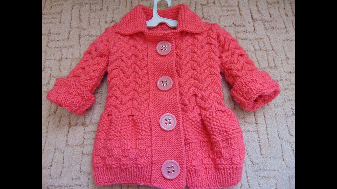 Схемы вязания спицами с описанием для детей от 1, 2, 3 ...