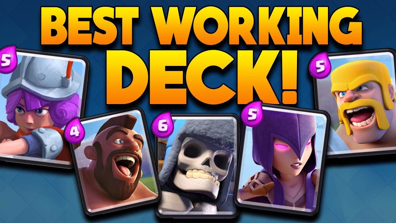 Clash royale best arena 5 arena 6 deck ultimate for Clash royale deck molosse