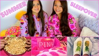 Summer Sleepover Ep.3 - Embarrassing Stories, Marshmallow Popcorn & DIY Socks! Thumbnail
