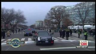 President Obama Motorcade White House to United States Capitol Inauguration Day (January 21, 2013)