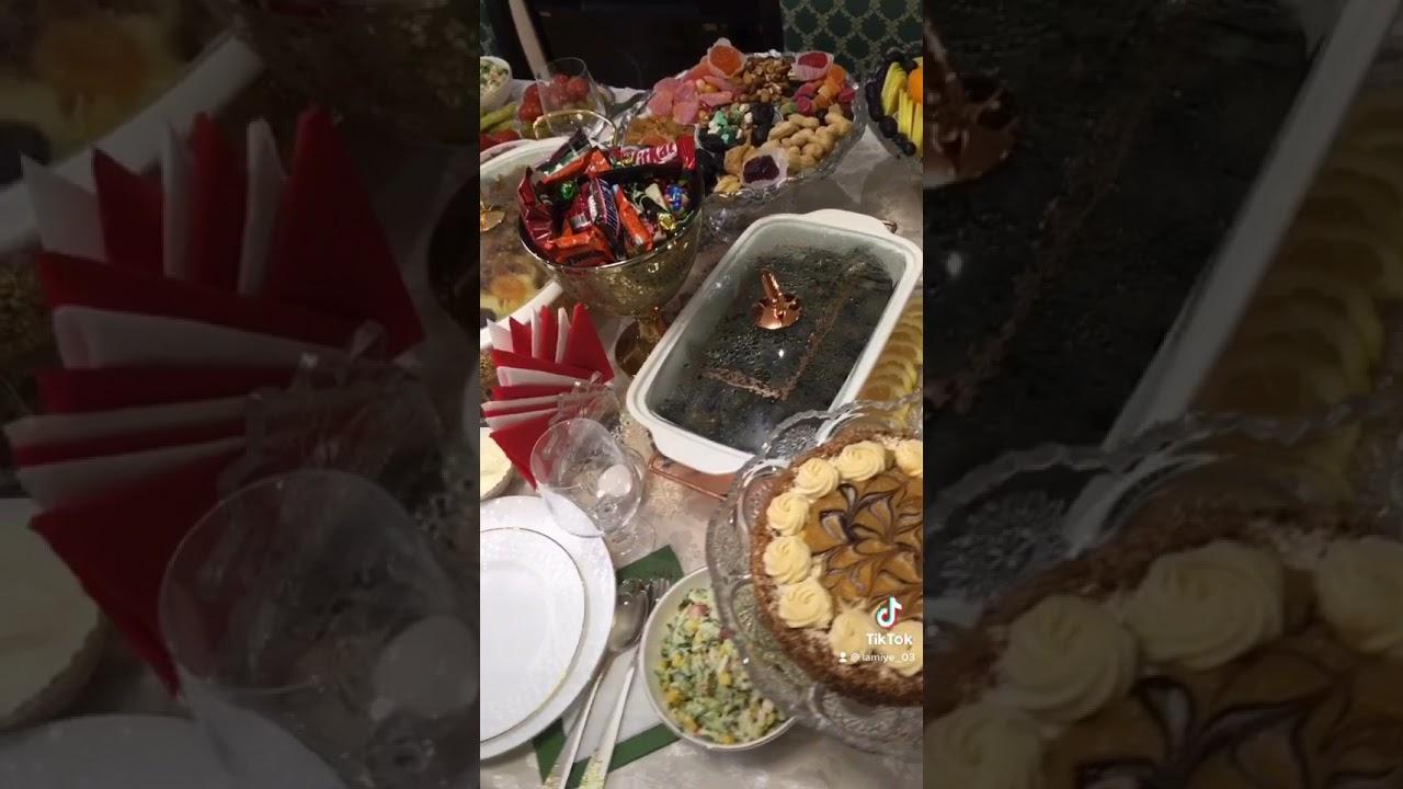 Möhtəşəm Ad günü dekoru,Şah Plov , Mimoza Salati ,Beze, Cupcake, Tortun  hazirlanmasi