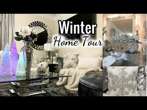 Winter Glam Home Tour 2017 | Living Room, Entryway Decor, Dining Room