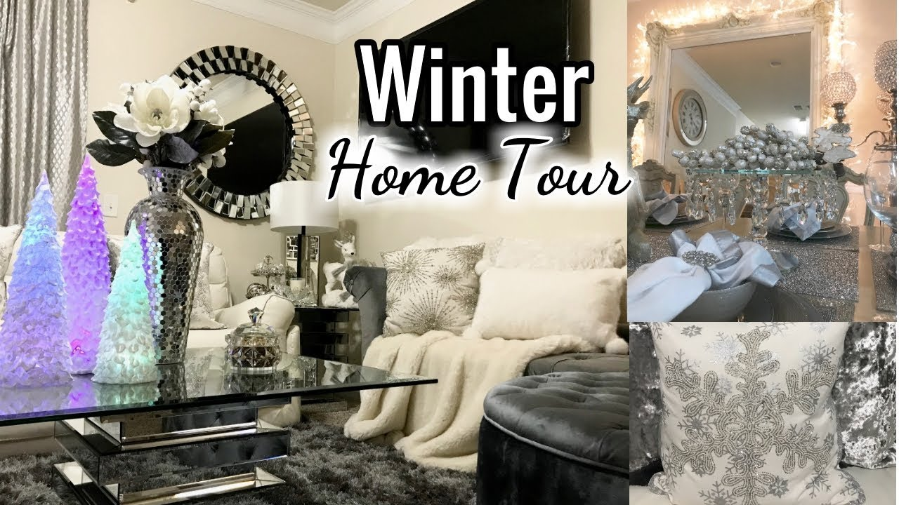 Winter Glam Home Tour 2017 | Living Room, Entryway Decor, Dining ...
