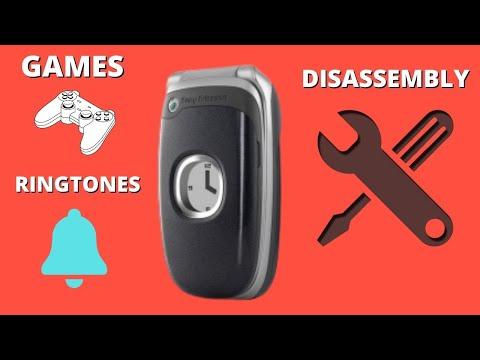 Sony Ericsson Z300i Eva.Recenzja/Review/Demontaż/Repair/Disassembly/Ringtones.Retro