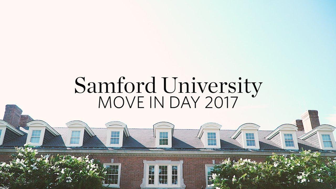 Samford University Move In Day 2017 Youtube