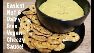 Easiest Nut & Dairy Free Vegan Cheezy Sauce!