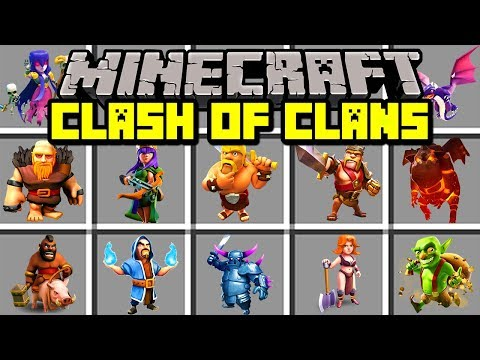 Minecraft CLASH OF CLANS MOD! | BUILD ARMY OF BARBARIANS, DRAGONS, & MORE! | Modded Mini-Game