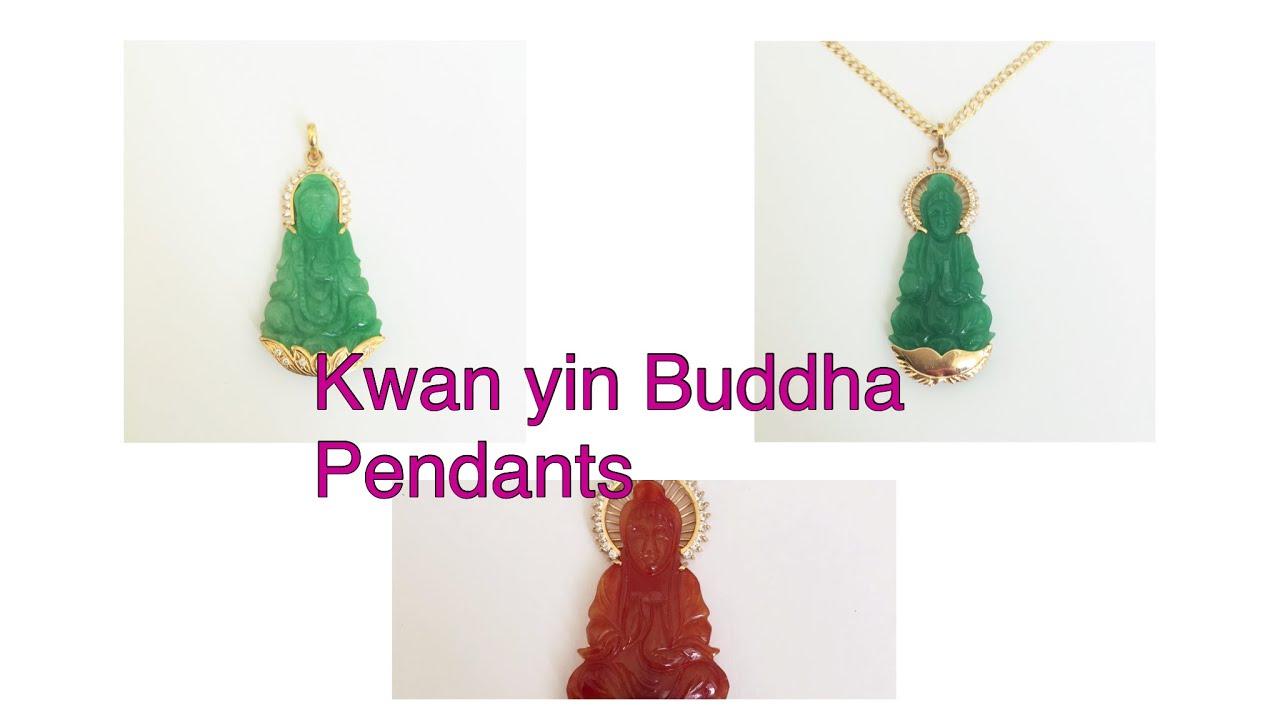 Kwan yin buddha jade pendants youtube kwan yin buddha jade pendants aloadofball Images