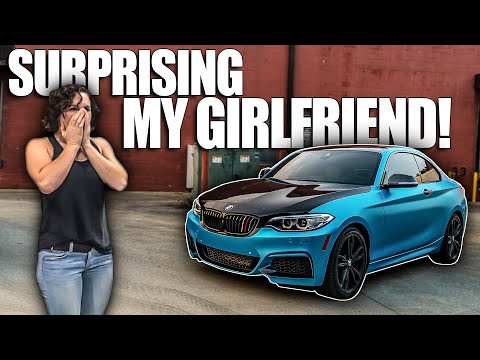 SURPRISING MY GIRLFRIEND BY WRAPPING HER CAR!