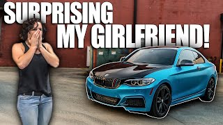 surprising my girlfriend by wrapping her car