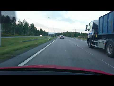 Järvenpää to Helsinki morning rush hour drive