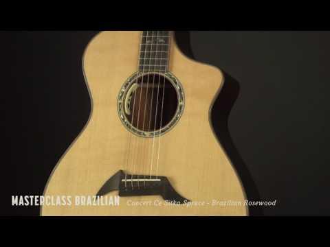 Masterclass Brazilian Concert Ce Sitka Spruce - Brazilian Rosewood Guitar