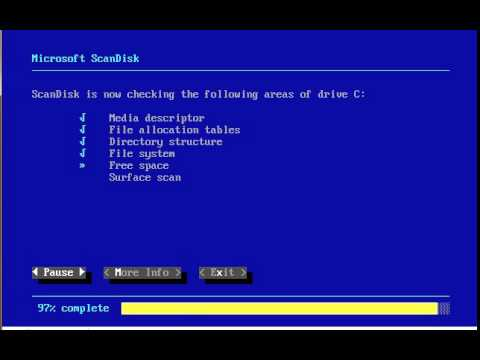 How To Use Microsoft ScanDisk - Computer Hope