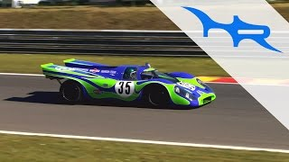 Porsche 917K (917-021) Psychedelic Acceleration & Fast Flyby & Revving