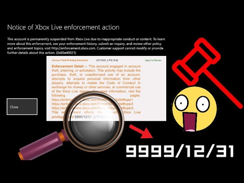 My Xbox Account Got Suspended Untill 9999/12/31 The Worst Reason, Please Watch Out!! Don't Do This