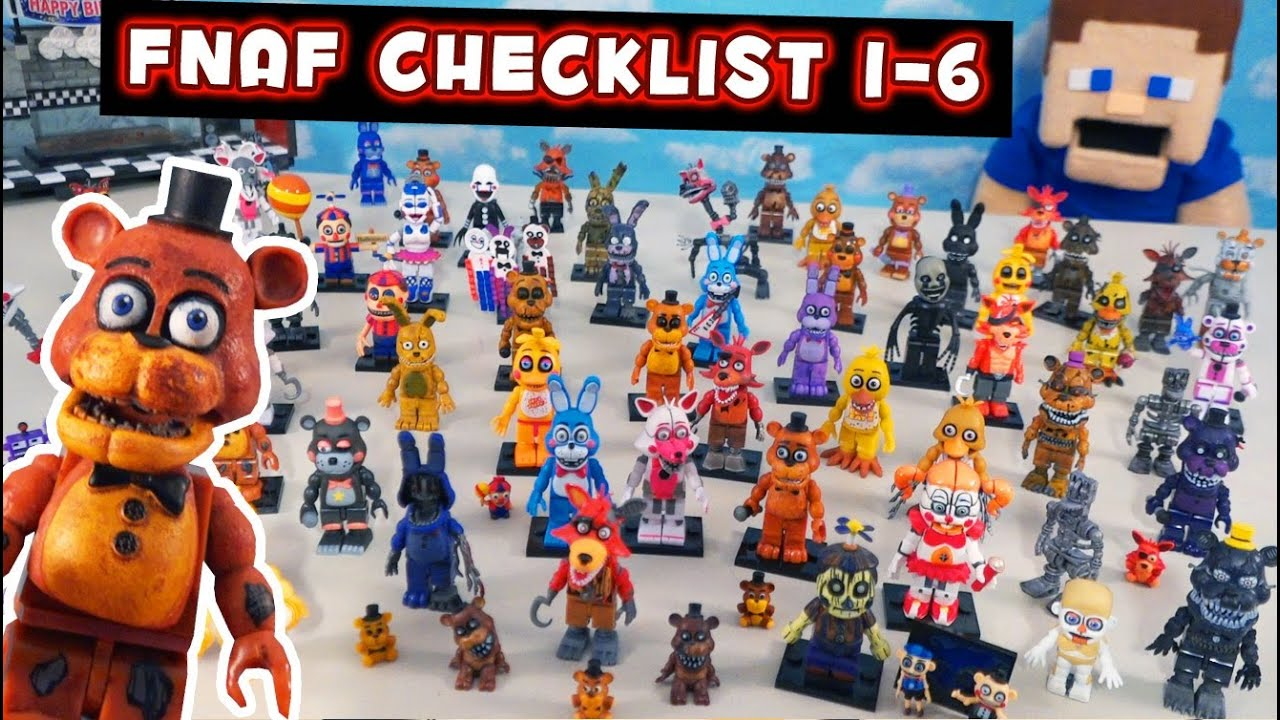 FNAF McFarlane Toys Complete Mini Figures Checklist Series 1-6 Five Nights at Freddy's