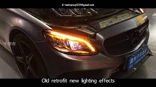 Mercedes-Benz C-class W205/C180.C250.C63 old retrofit new multi-beam LED headlights