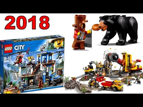 LEGO City 2018 Горная ПОЛИЦИЯ и ШАХТА наборы Обзор