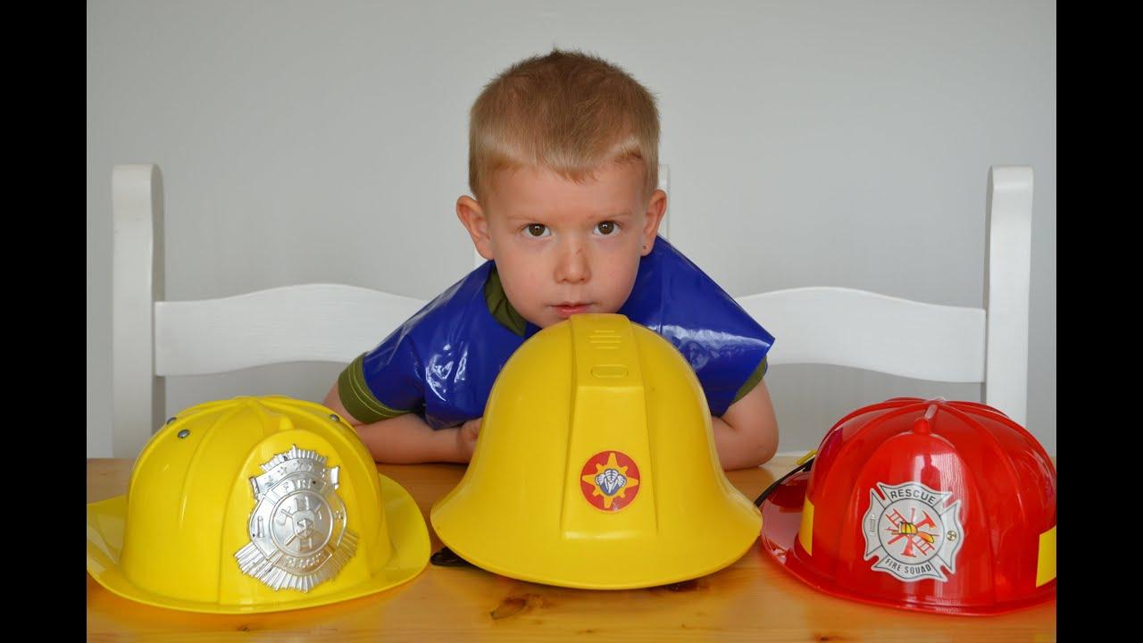fireman sam kids surprise fireman hats toys fire engine